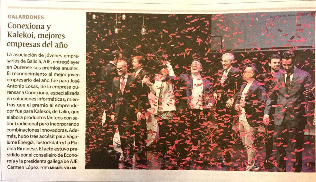 Noticia en el periódico impreso