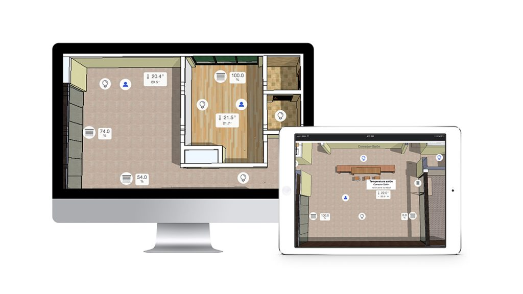 Muestra de a visualización con Nest