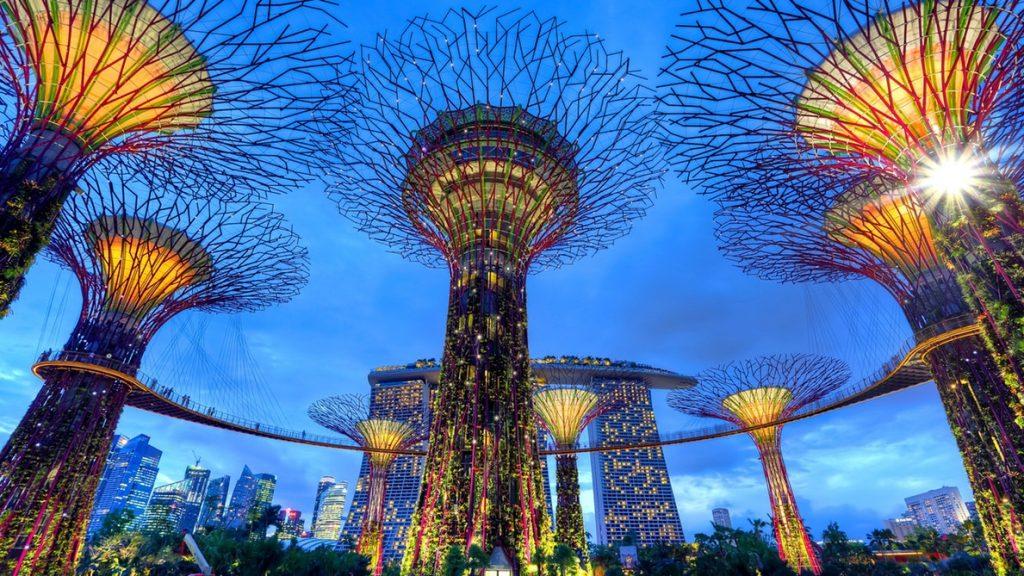 Foto de Singapur al atardecer