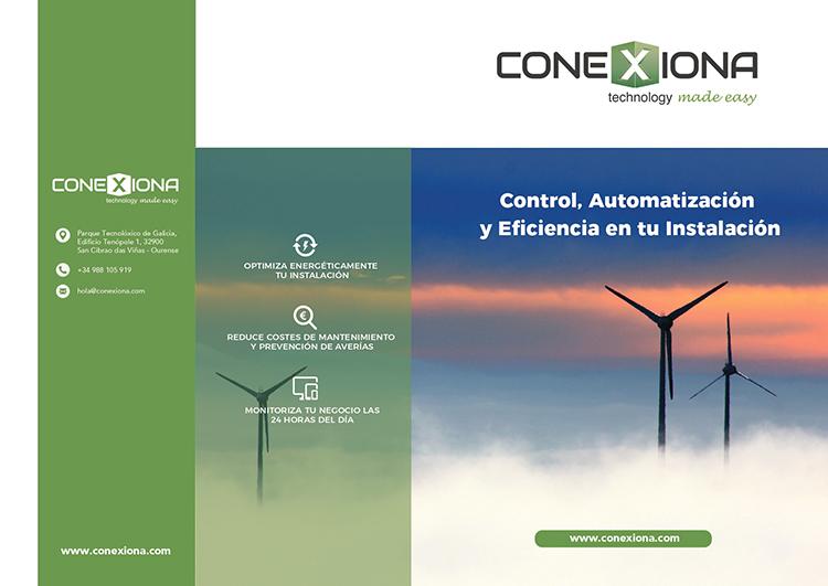 Diptico Conexiona Bono de Enerxía Peme e Comercio